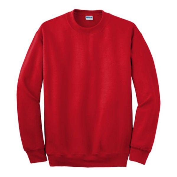 Gildan Crew Neck Sweatshirt, Red