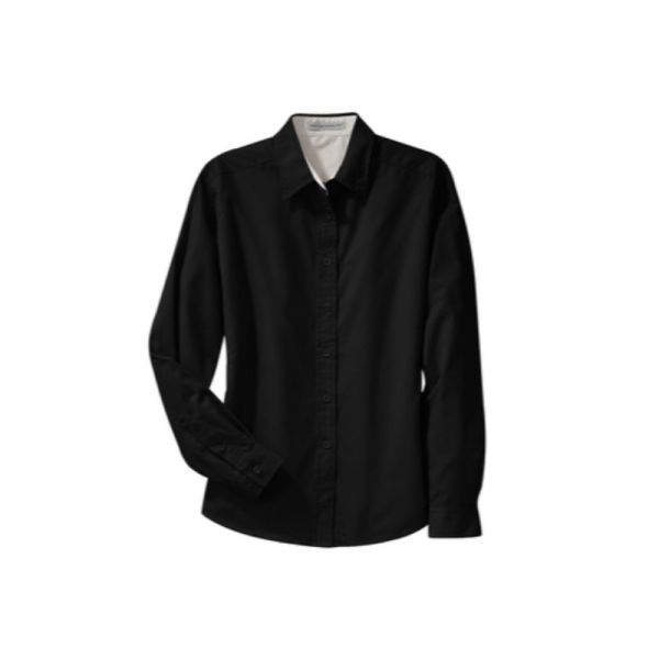 Ladies long sleeve shirt, Black