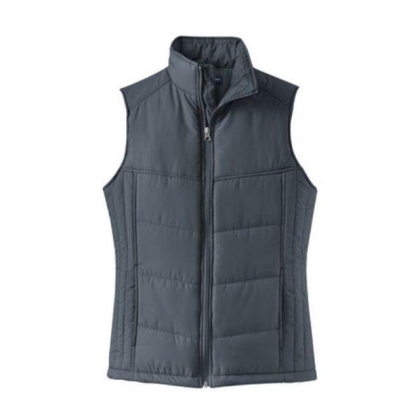 ladies vest, slate grey