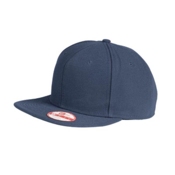 Flat bill snapback cap, navy