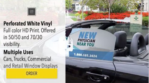 Perforated Vinyl Window Signage