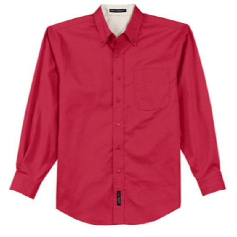 Mens twill dress shirt