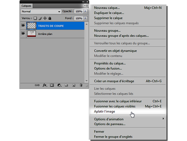 applatissement et vectorisation pour votre fichier prépresse