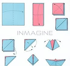 paper fold boat steps