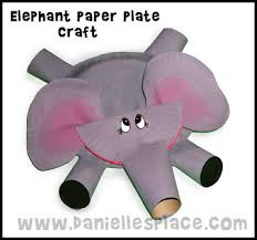 elephant paper plate
