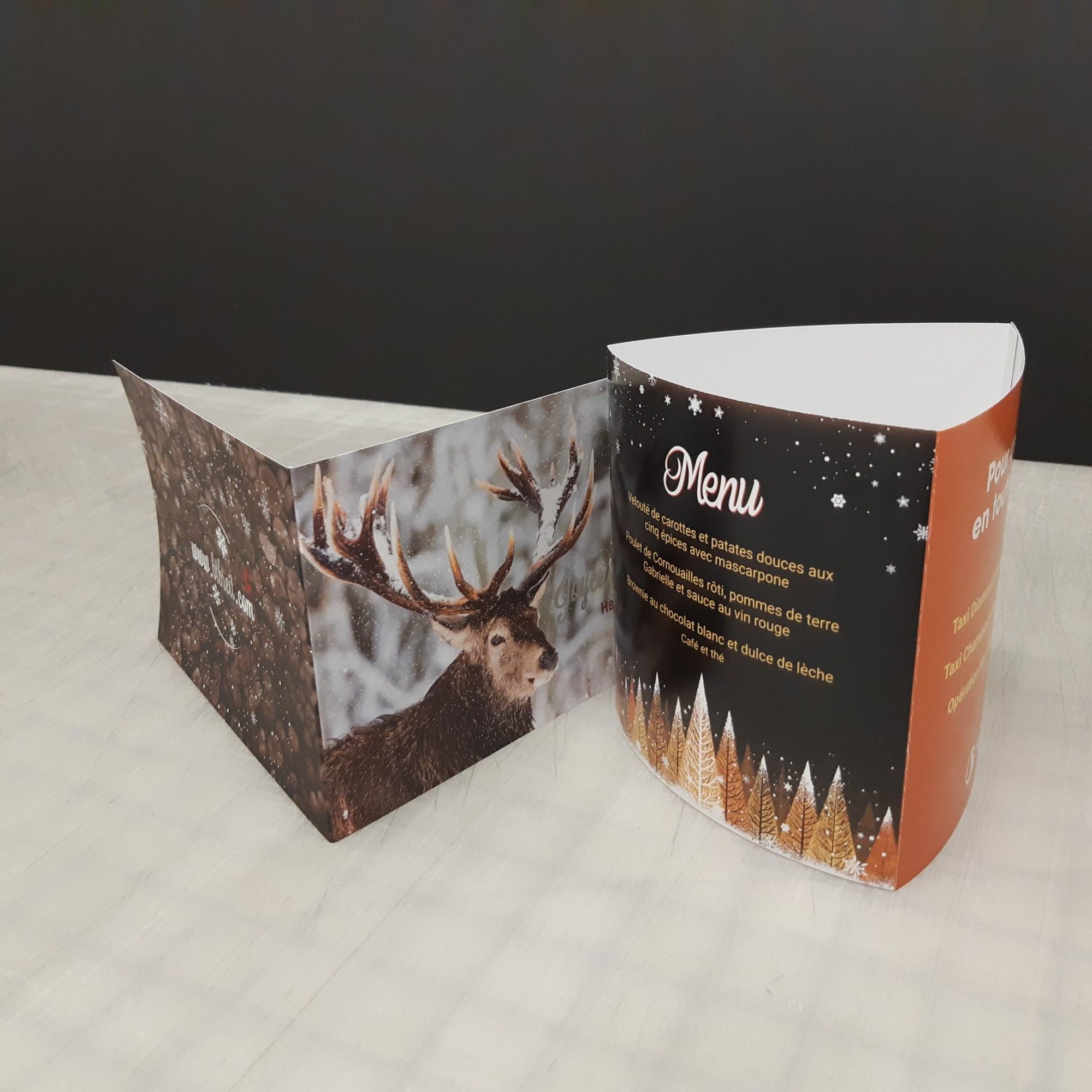 Impression de cartes de vœux et de cartes tentes - Montréal - Laval