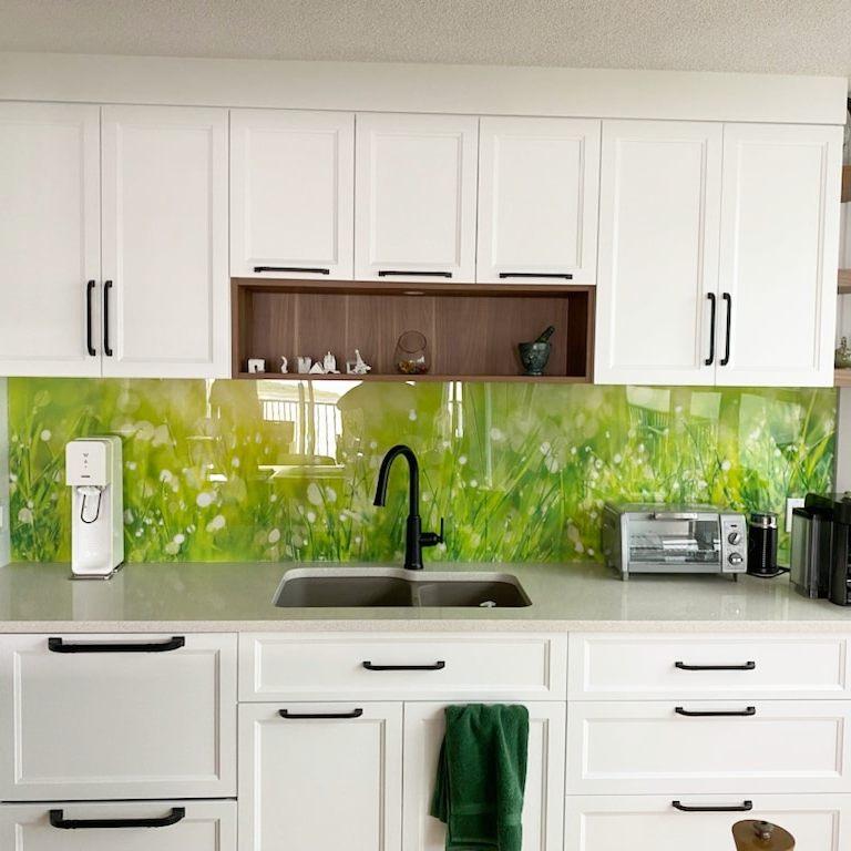 Impression sur plexiglass pour décoration d'un dosseret de cuisineÀ_Montréal_Laval_Quebec_Impression grand format