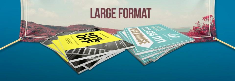 Impression Grand format & Types de Matériaux