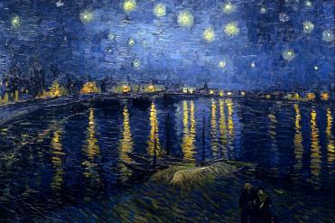 """""""Nuit étoilée sur le Rhône"""", Vincent Van Gogh, huile sur toile, 1888, 72, 5 x 92 cm Collection du Musée d'Orsay Source : Wikimedia Commons, 06/04/15"""