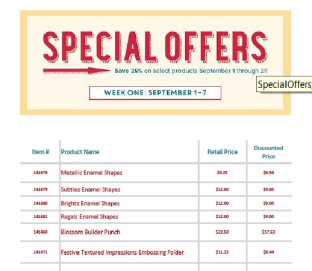 Sept 1 2016 Special Offer