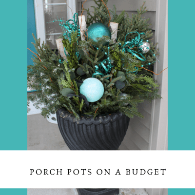 porch- garden- floral- holiday- teal- seasonal- interior design- eye candy