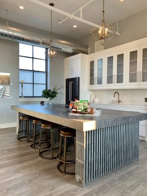 Laminate Kitchen countertops with stain resistant countertop, backsplash and appliances
