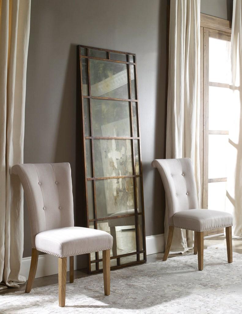 Tall floor length metal framed antiqued mirror Impressive Window & Interiors Hastings Mn