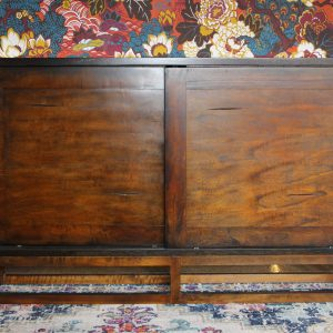 Wood console table with sliding front doors Impressive Windows and Interiors Hastings MN