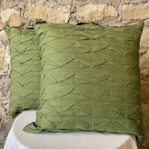 pintucked pleated green pillow from Impressive Windows & Interiors in Hastings Minnesota