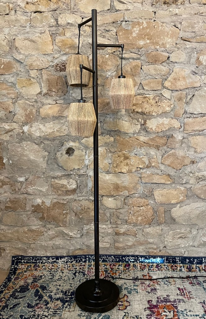 Oil Rubbed Bronze Floor Lamp with gold highlights and diamond shaped shades Impressive Windows and Interiors Hastings, MN