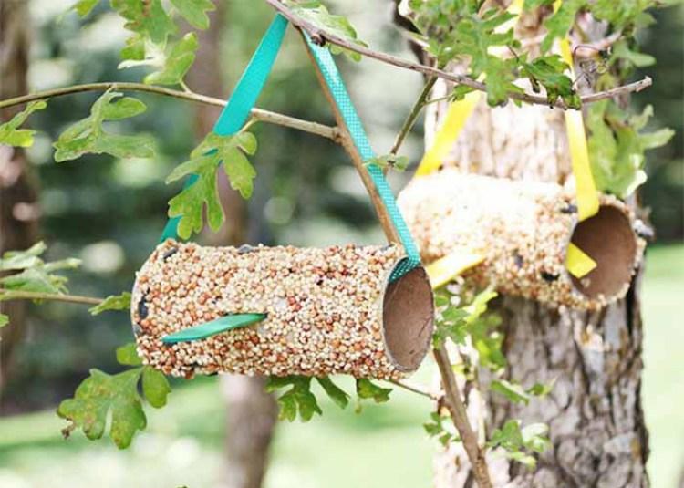 WC-papír gurigákból madáretető