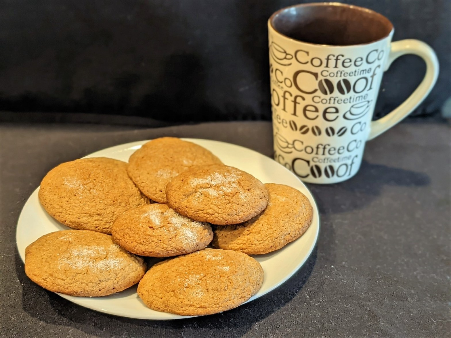 Gingerbread Cookies go great with a cup of coffee