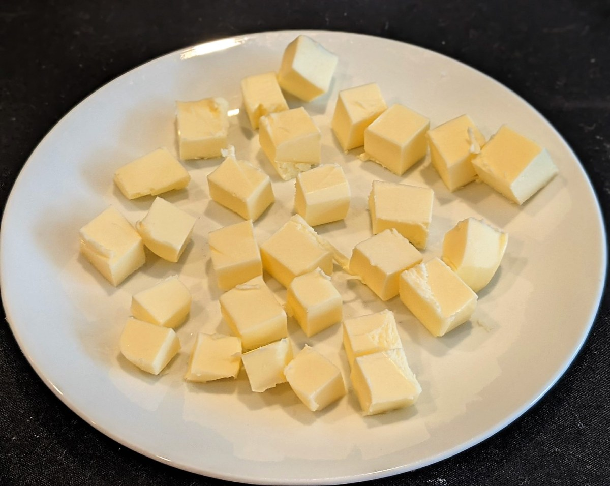 picture of cubed butter
