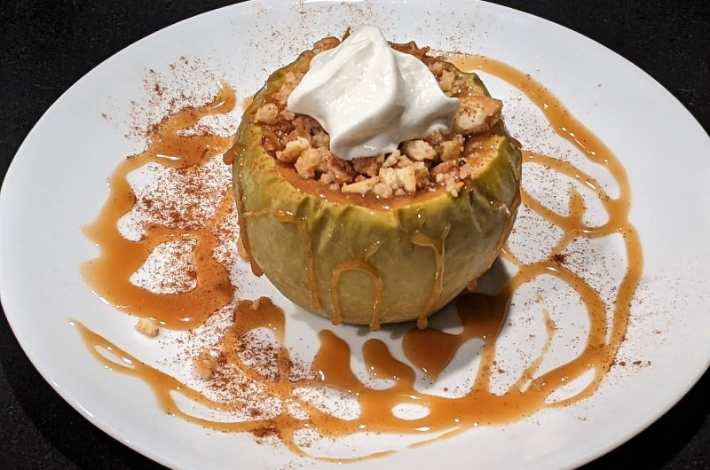 Cheesecake-Stuffed Baked Apples with Homemade Caramel Sauce