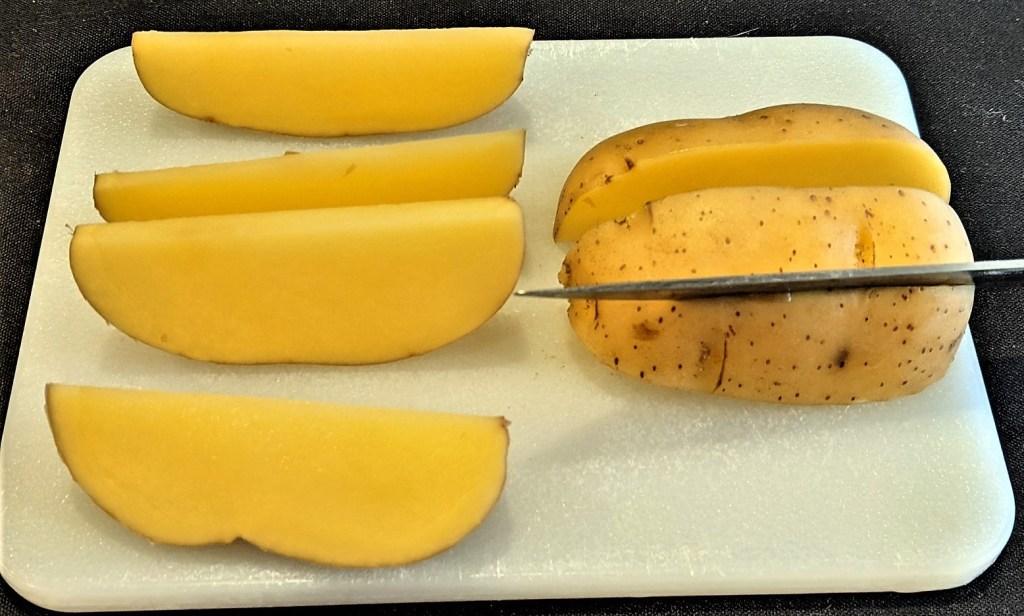 potato quartered into wedges