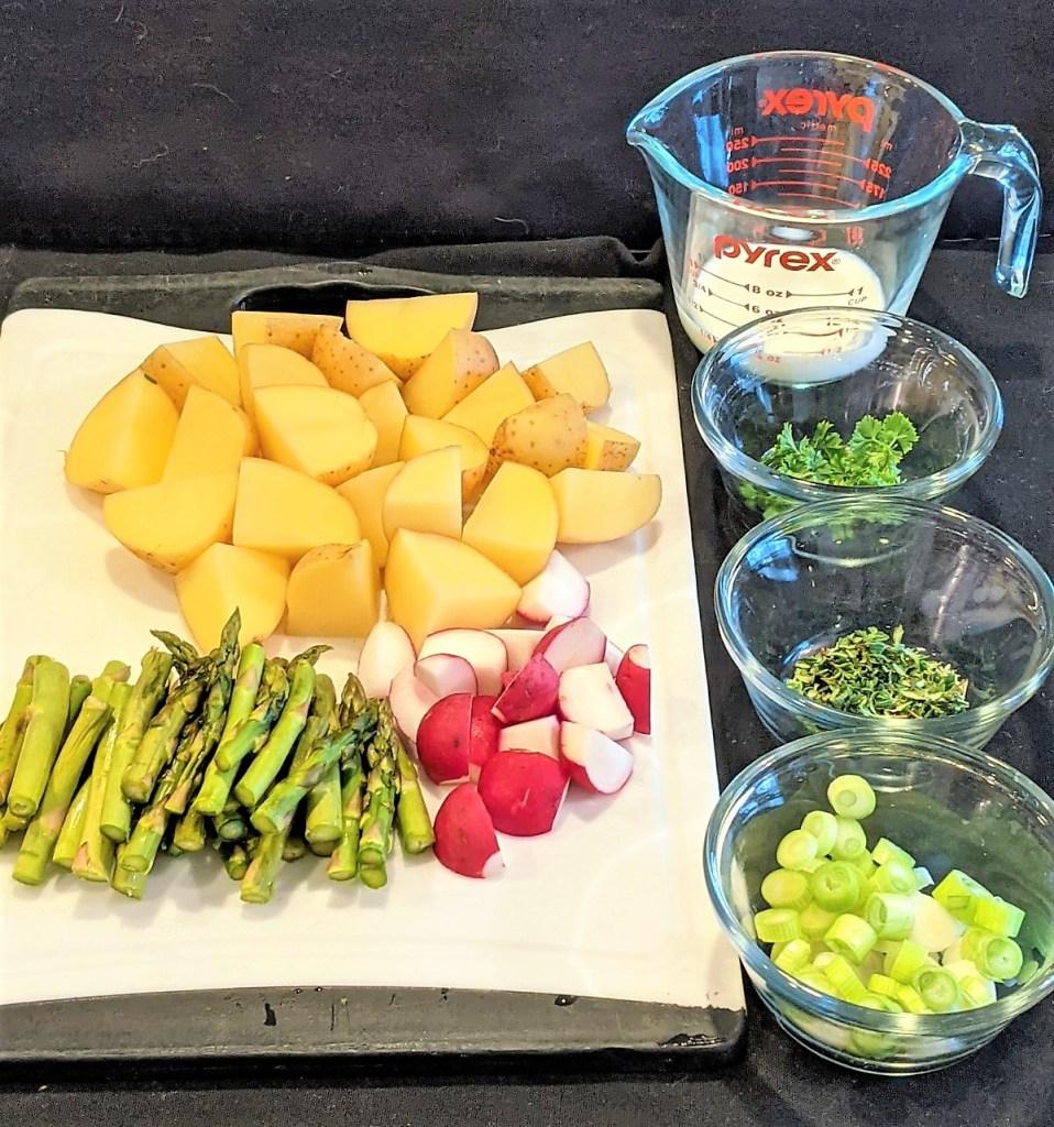 image of prepped veggies