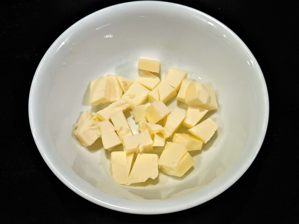 butter cubes in a bowl