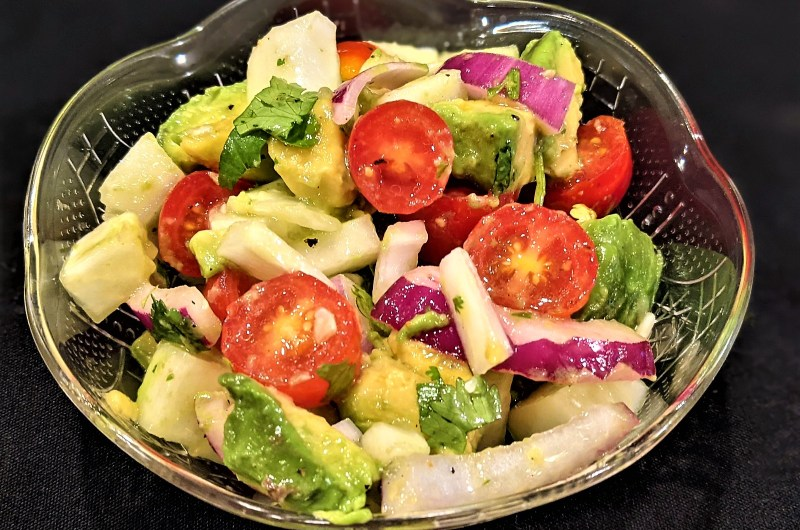Avocado, Cucumber and Tomato Salad