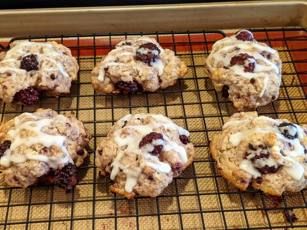 frosted scones