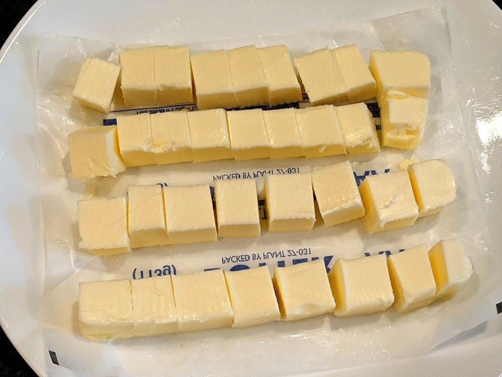 butter in cubes