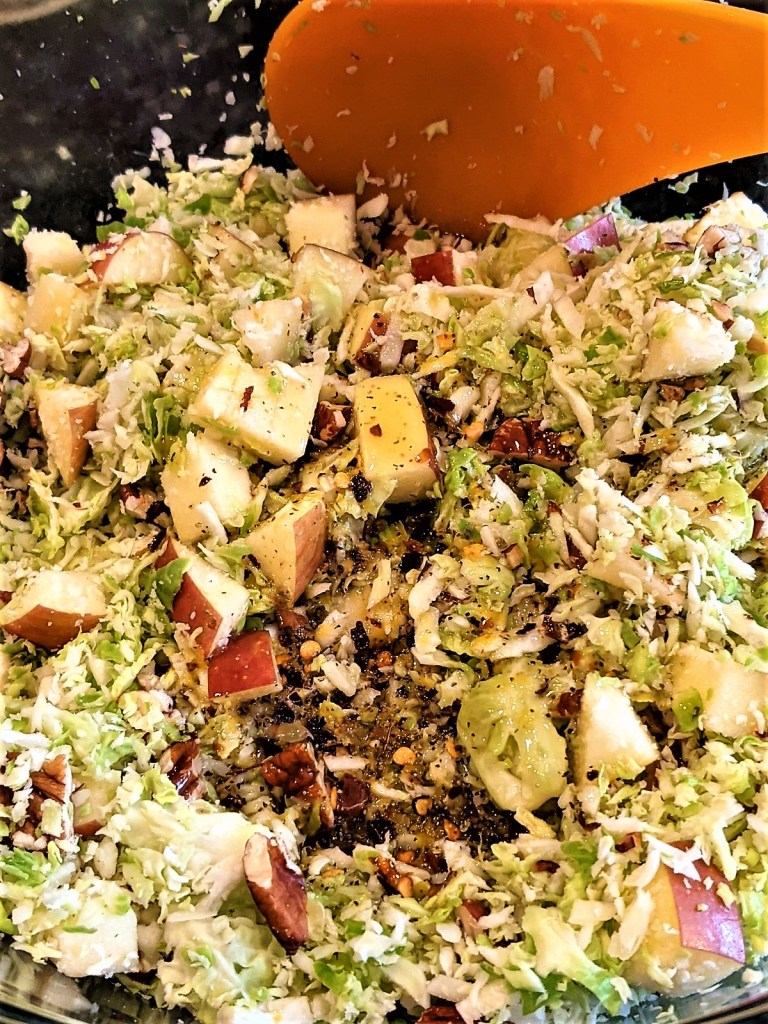 Slaw with dressing added