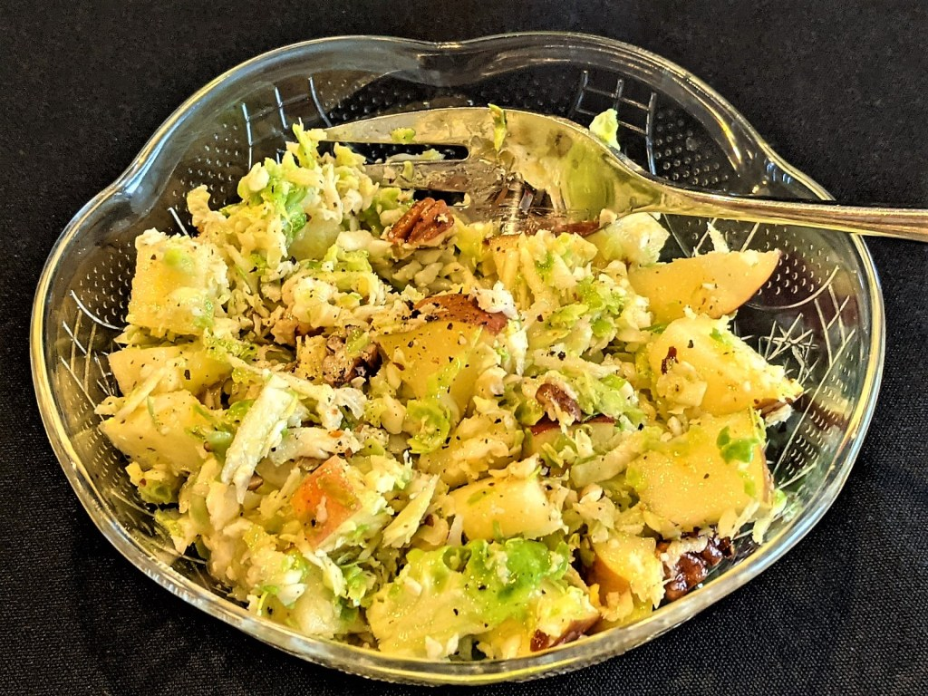 Brussels Sprout and Apple Slaw with Pecans