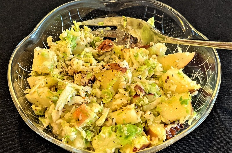 Brussels Sprouts and Apple Slaw with Pecans