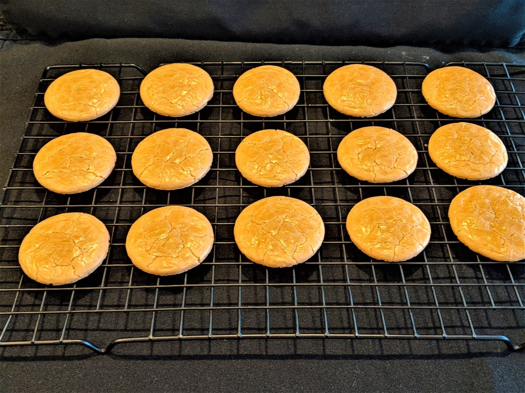 cookies cooling on a rack