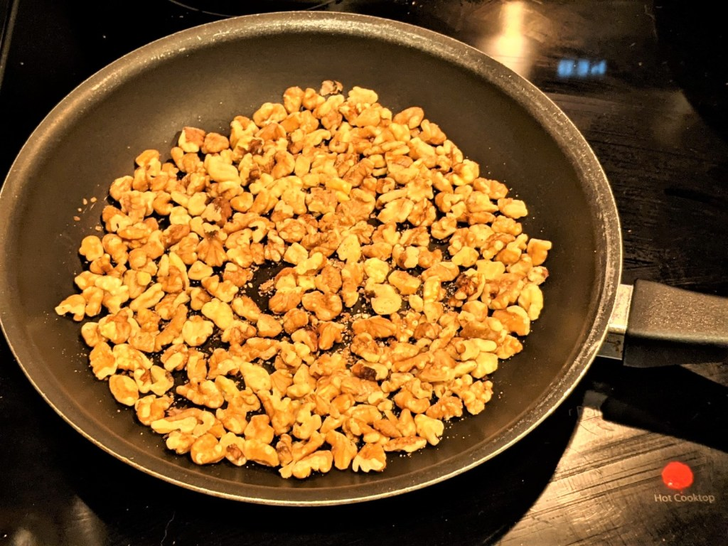 walnuts in skillet