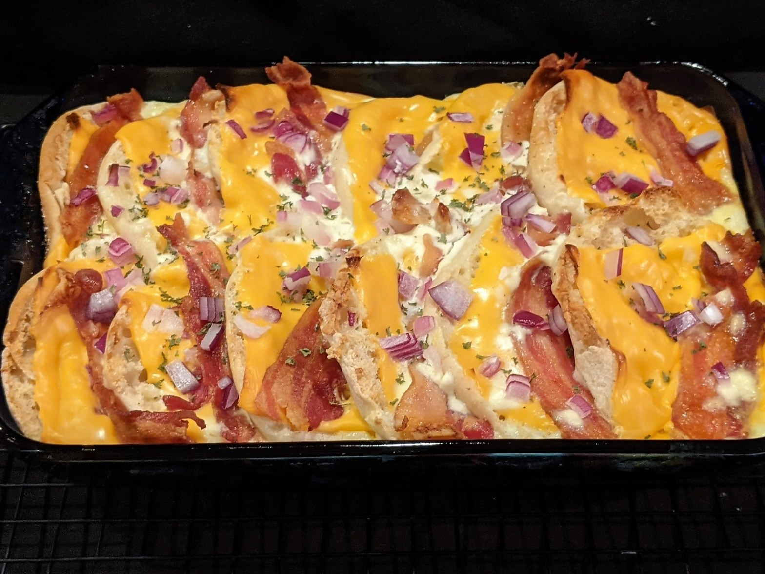 Bacon, Egg, and Cheese English Muffin Casserole