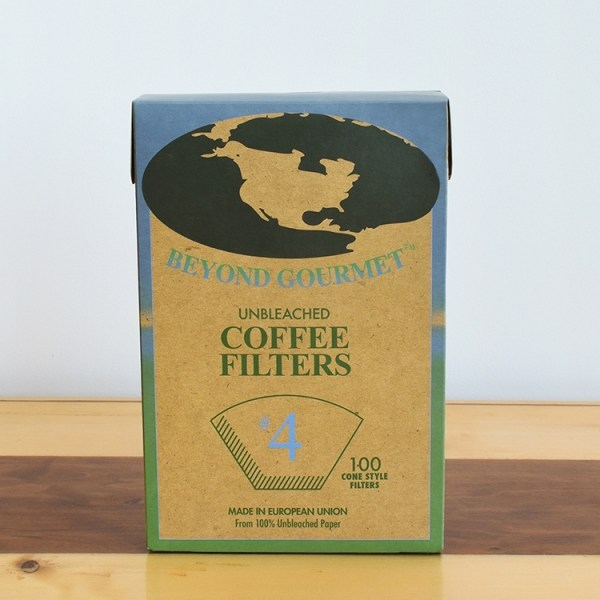 A box of unbleached coffee filter