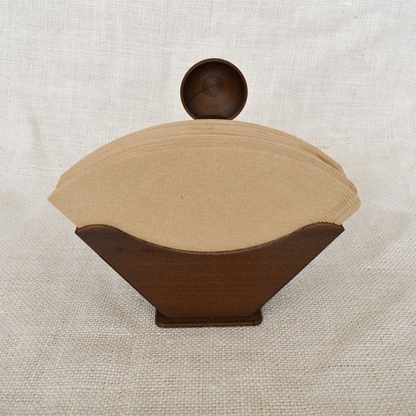 Coffee filter holder with coffee scoop and filter