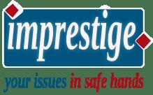 Imprestige logo with tagline