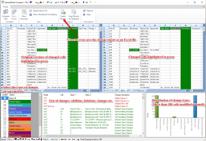 Commented screenshot of Excel Inquire