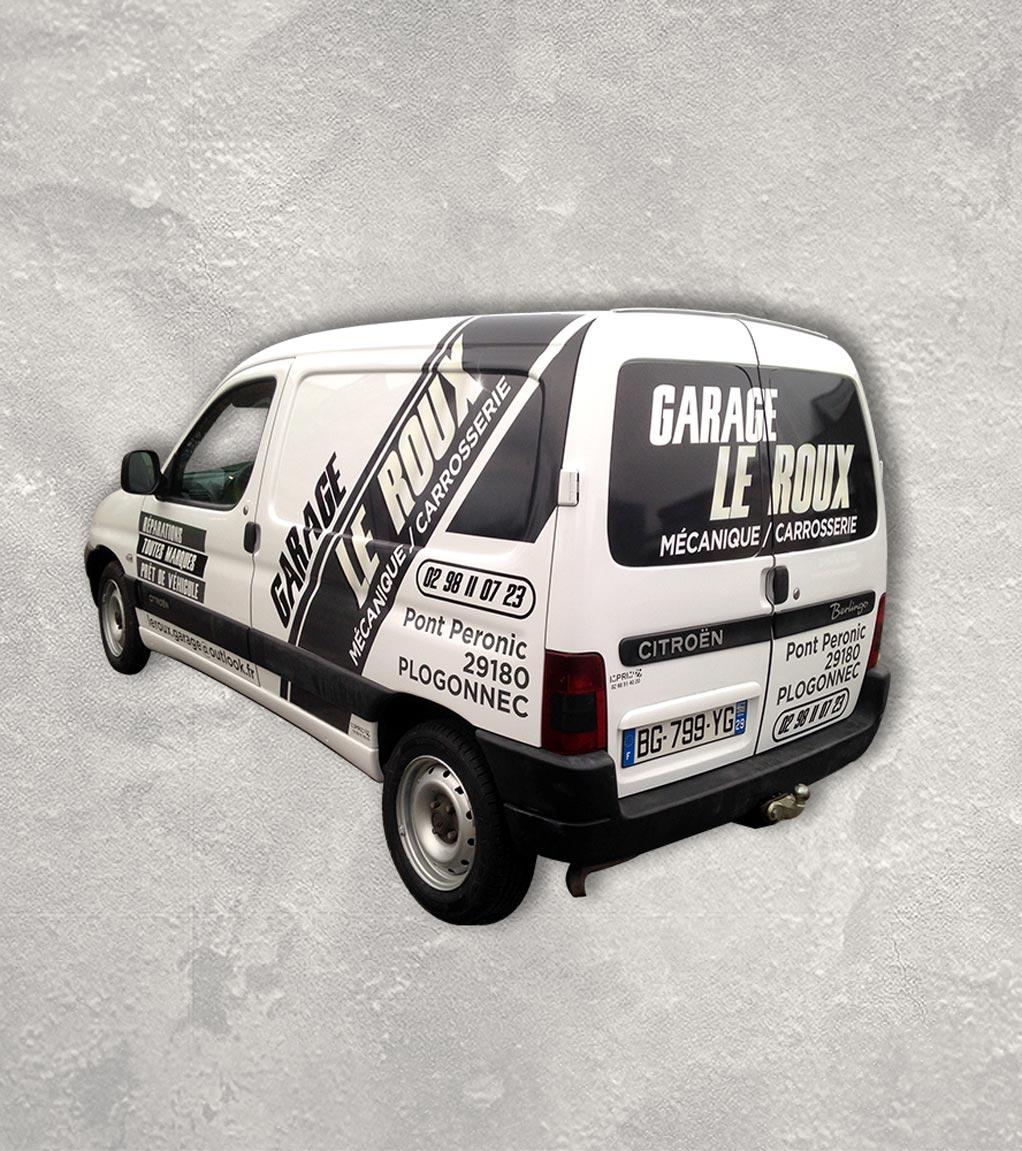 Garage Le Roux - Marquage adhésif sur véhicule - Concarneau