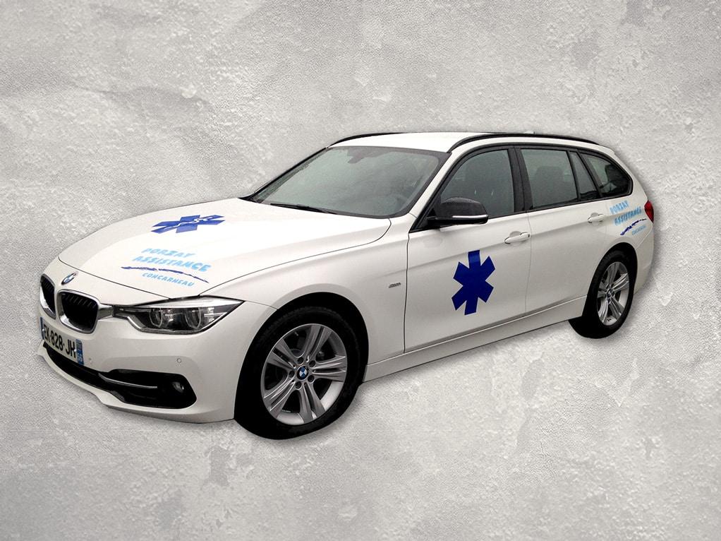 Marquage adhésif sur véhicule - Porzay Assistance