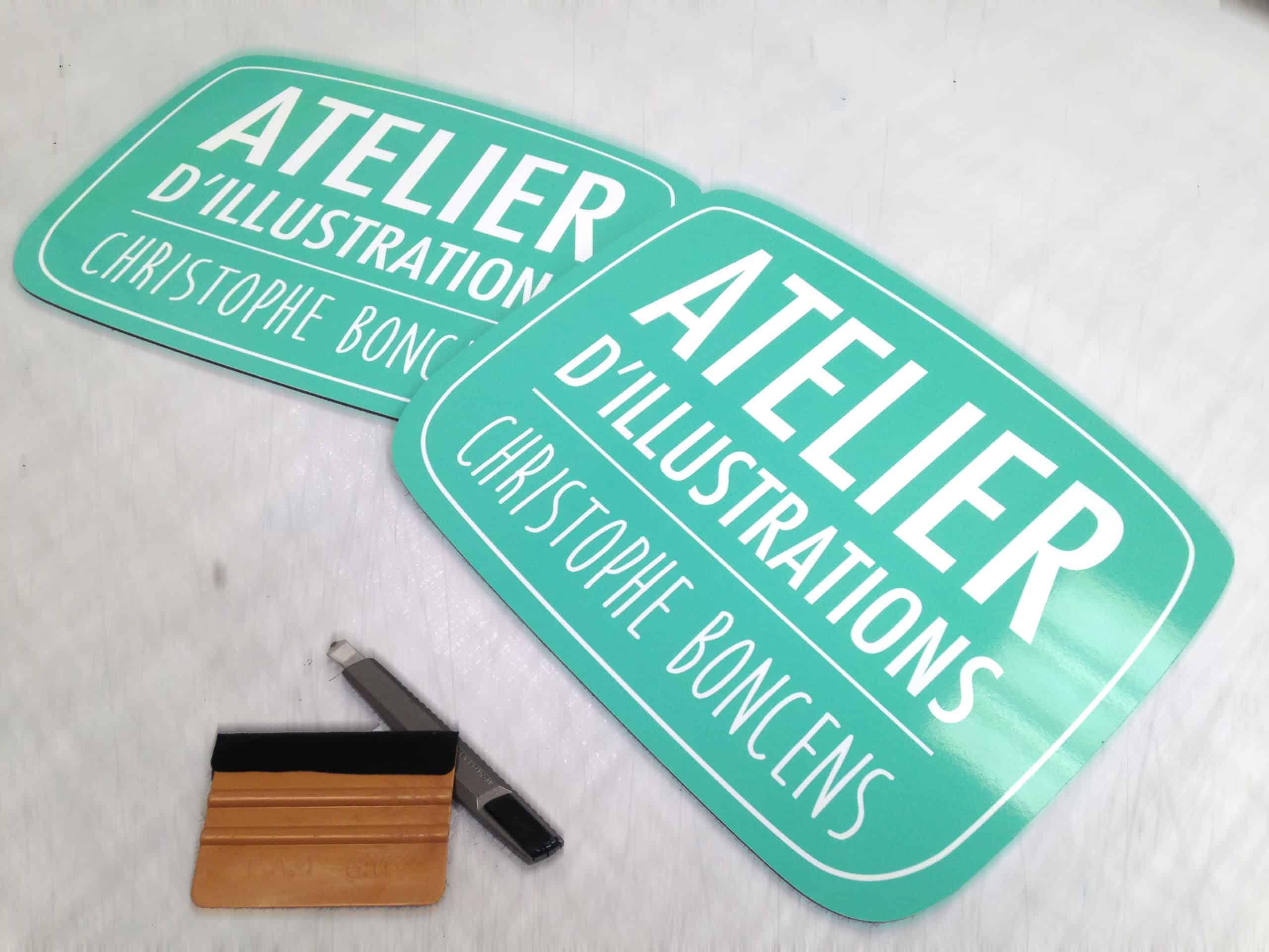 Panneaux - Atelier d'illustrations Christophe Boncens - Pont Aven