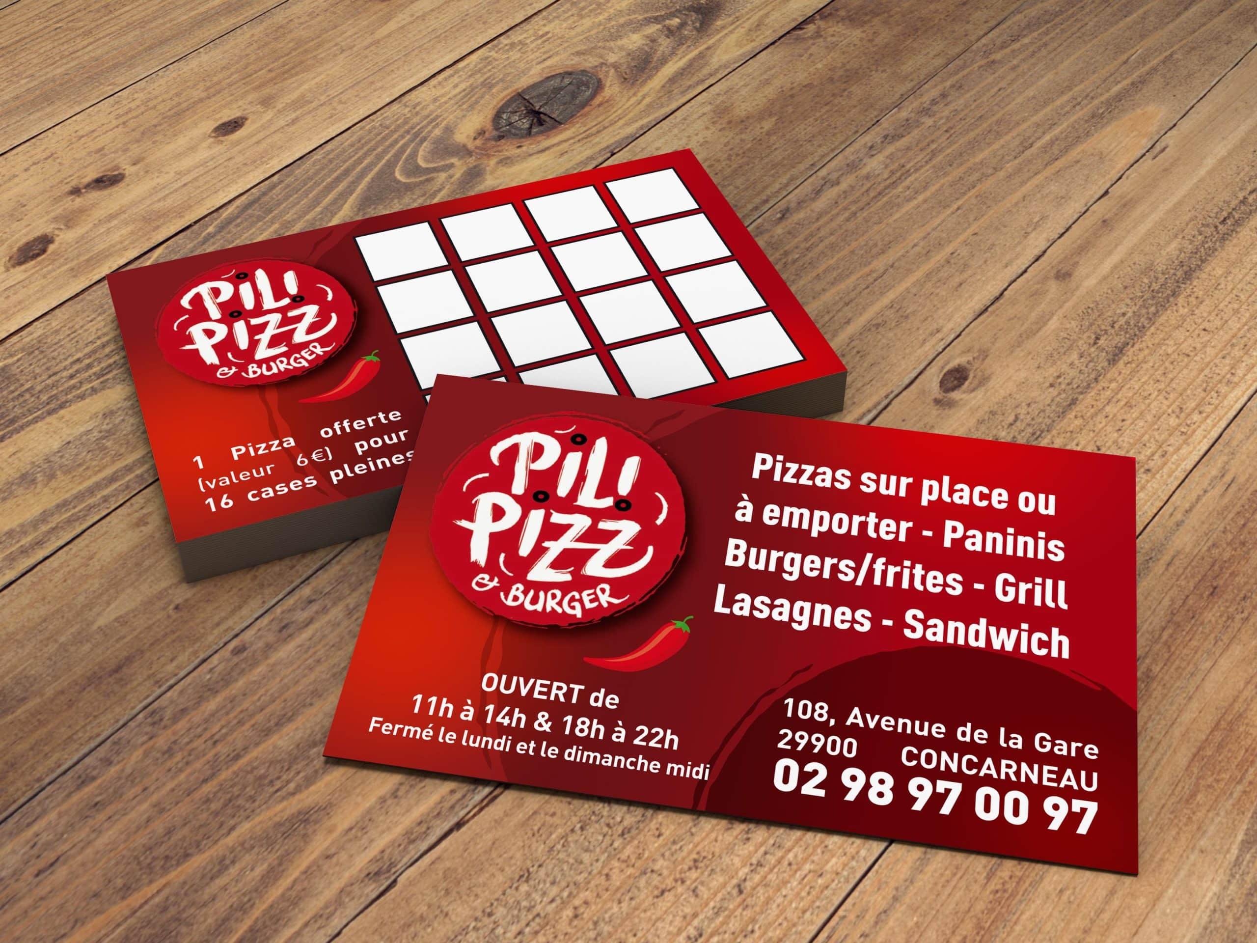 Pili Pizz - cartes recto verso - Concarneau