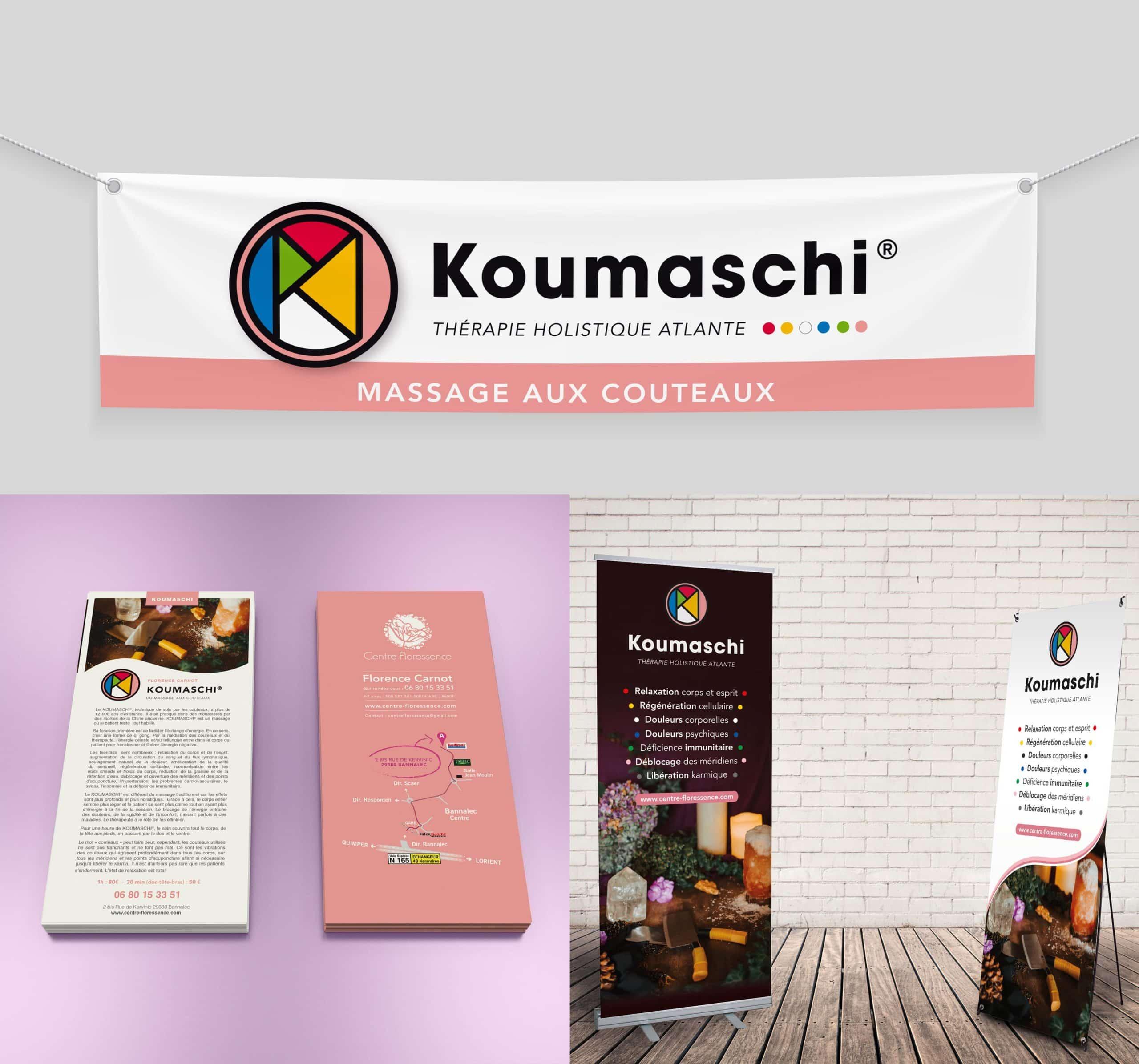 Bâche, flyers, Roll-up et x-banner - Centre Floressence - Bannalec