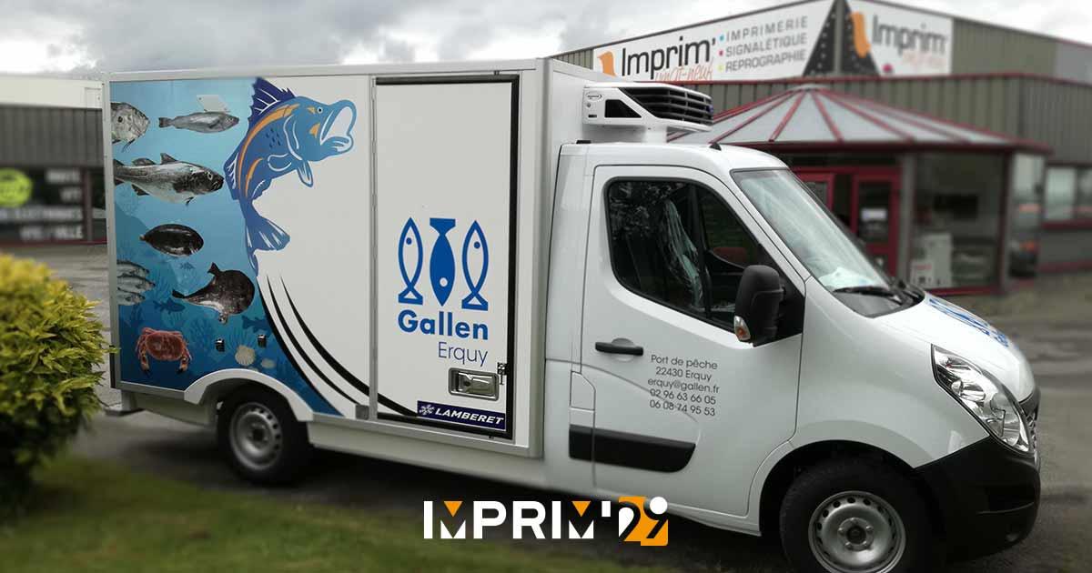 marquage de véhicule frigorifique - Gallen - Concarneau