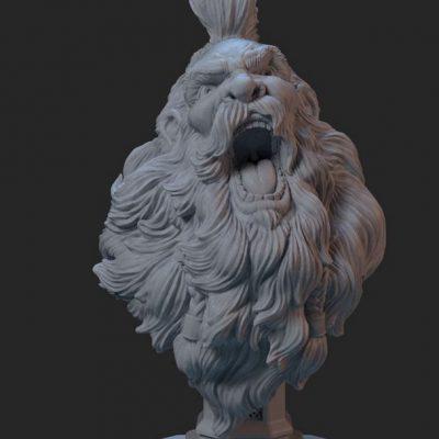 Sculpura imprimata 3d prin tehnologie SLA detalizata