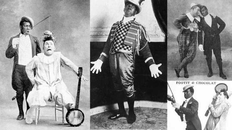 Les clowns Chocolat et Foottit, duo comique du 19e siècle - Images d'archives