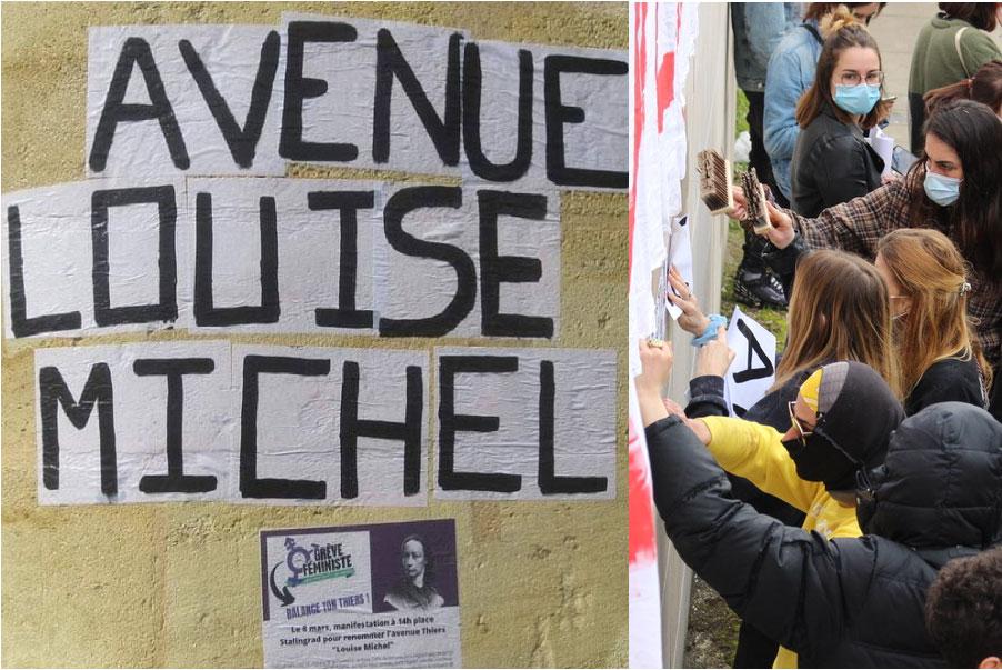 Une avenue renommée Louise Michel, figure féministe