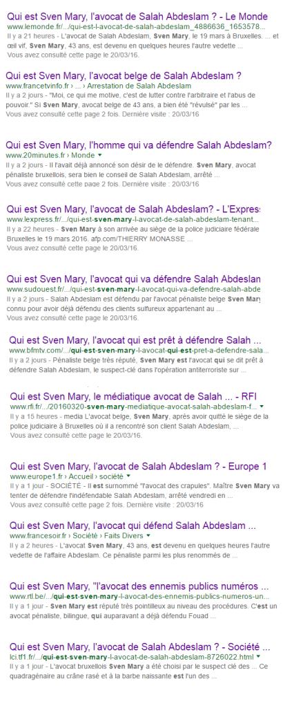 Depuis deux jours, les articles sur Sven Mary se multiplie, souvent sans grande originalité.